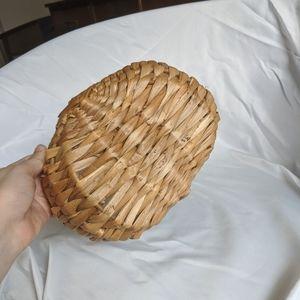 Vintage Accents - Vintage Handwoven Wicker Basket